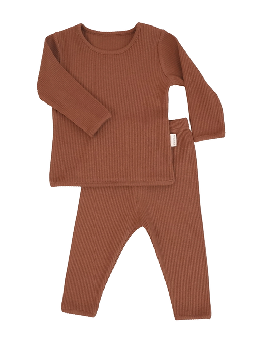 Caramel ribbed Loungewear