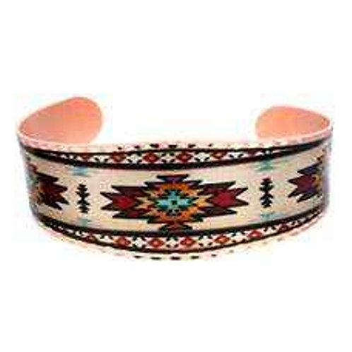 All Copper Bracelet Hand Made SW Hopi Design