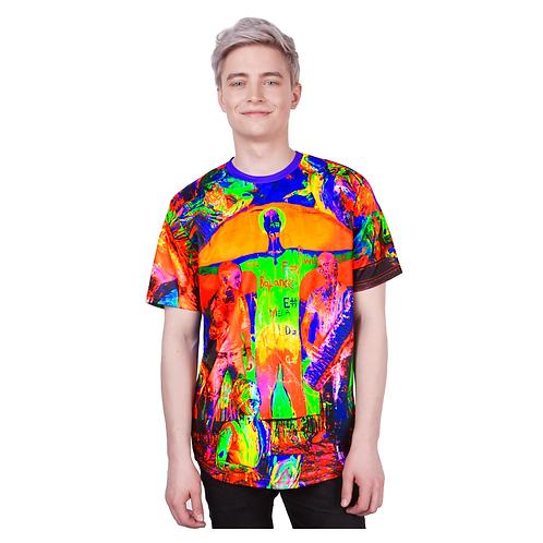 Blacklight Shirts Glow In Ultraviolet Fluorescent Neon Art Print
