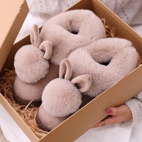 Cotton Slippers Fur Rabbit Home Warm