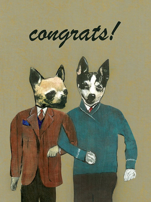 """Congrats!"" Dogs Greeting Card"
