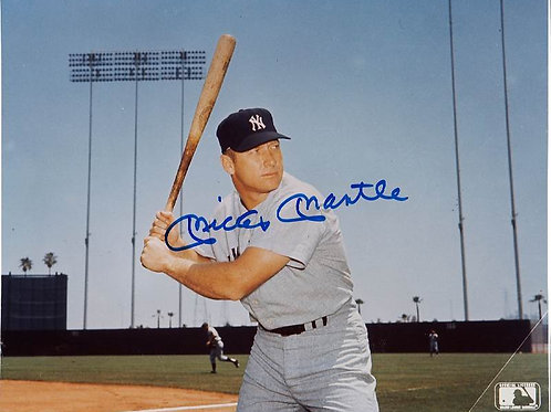 8 x 10 Inch Diameter Tin Sign All Aluminum Mickey Mantle