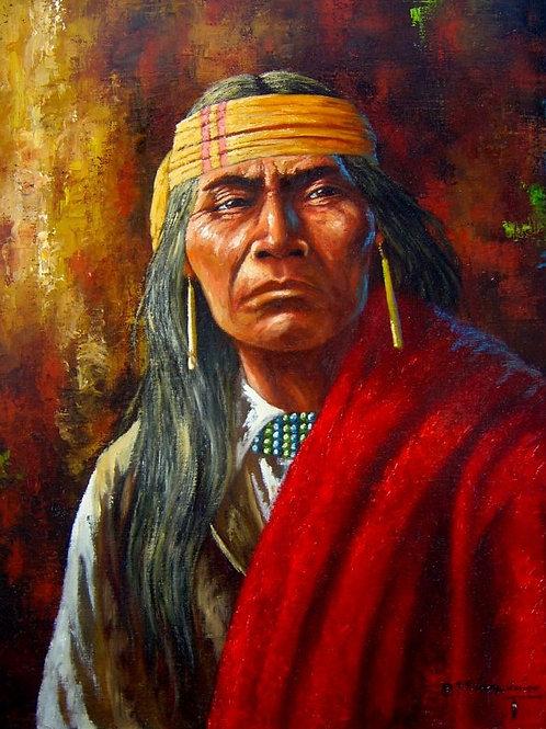 3D Metal Wall Art 11 x 14 Native Warrior Cochise