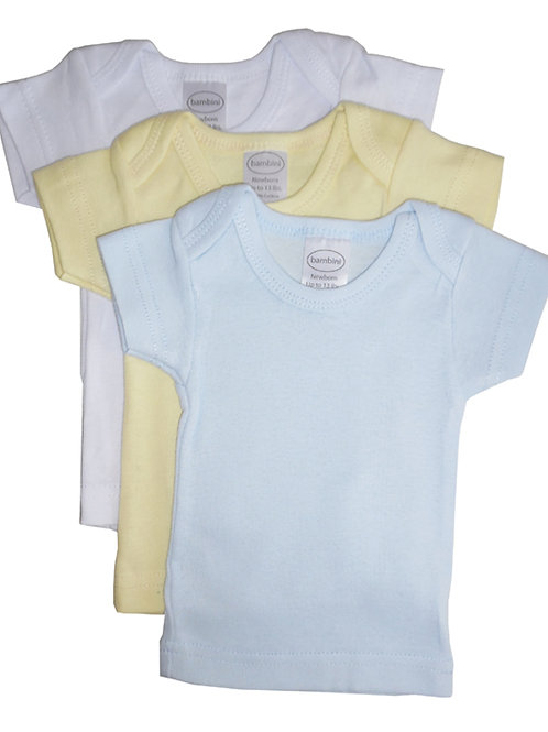 Boys Pastel Variety Short Sleeve Lap T-shirts - 3