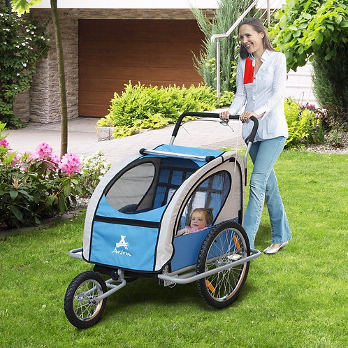Aosom Baby Bike Trailer Baby 2 in 1 jogger stroller Kids Seat Cycling
