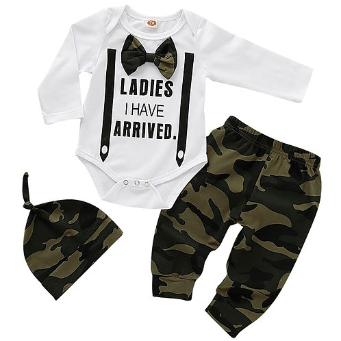 Cute 3PCS Set Newborn Baby Boy Clothes