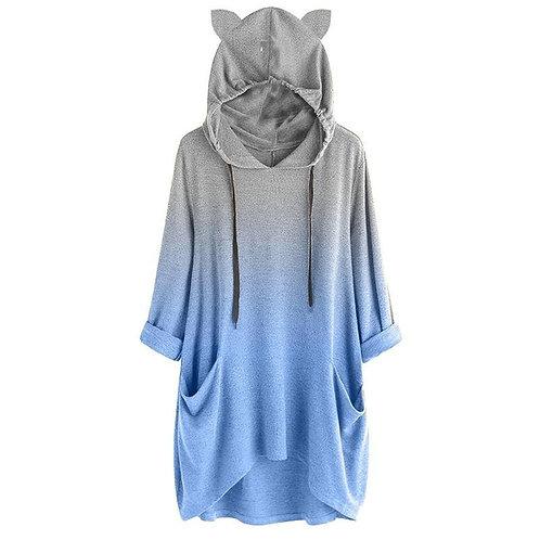 Cat Ear Hoodies Women Long Sleeve Sweatshirt Pullover