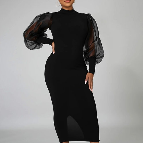 Black Bodycon Women Dress