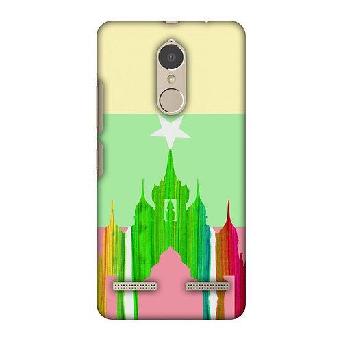 AnAnda Temple - Myanmar Flag Slim Hard Shell Case For Lenovo K6 Power