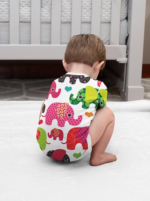 Colorful Elephant Onesie