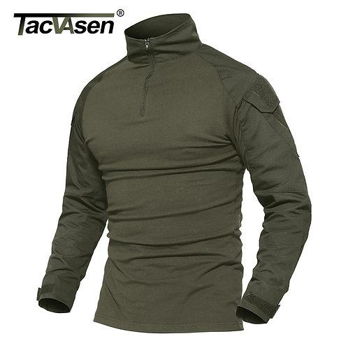 Combat T Shirt Cotton Military T-Shirt Airsoft Paintball Hunt Clothing Men