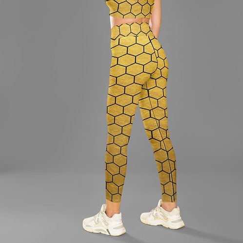Beehive leggings, Capris and Shorts