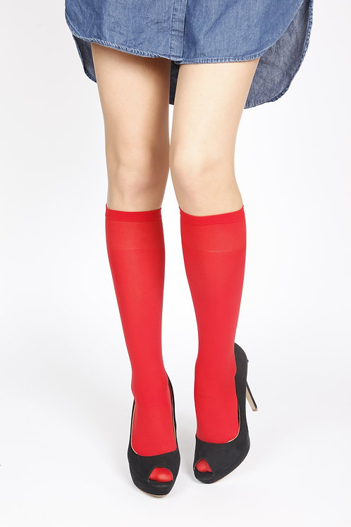 CADRI red knee-highs