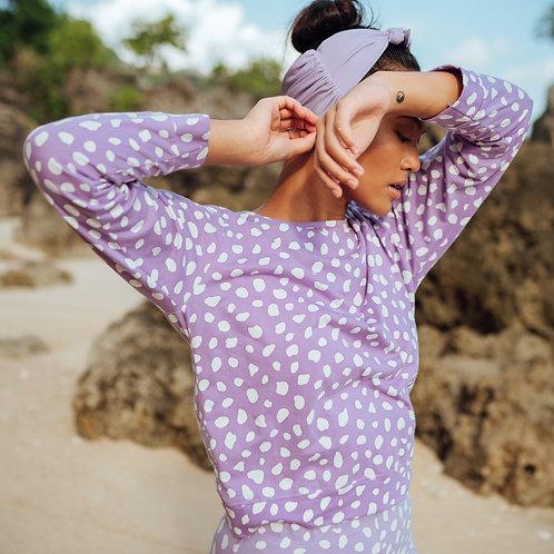 ARNOLDI Organic Cotton Sweatshirt, in Lilac Purple
