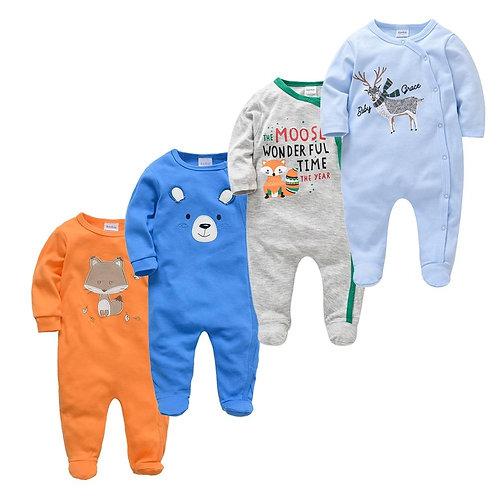 4 pcs/lot New Born Body Bebes Clothing