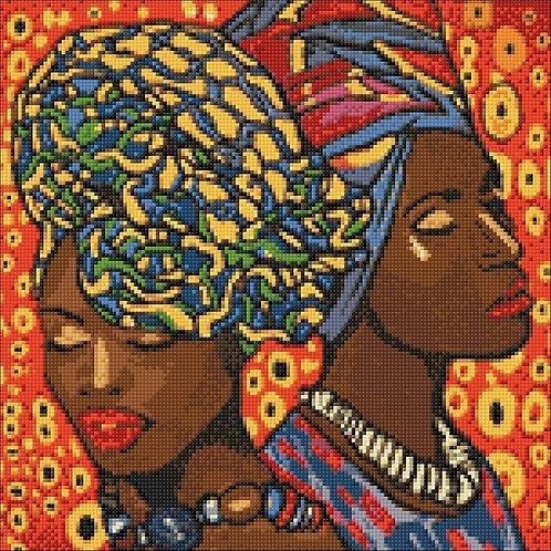 African Fashion WD142 14.9 x 14.9 inches