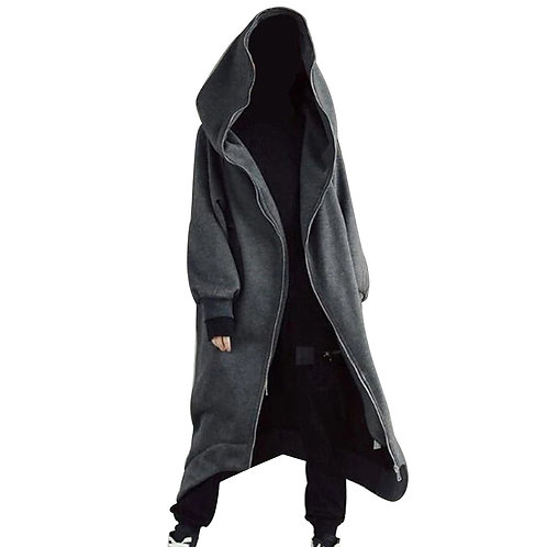 Closure Fleece Lined Long Hoodie Warm Comfortable