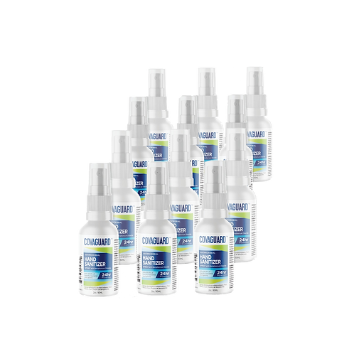 2.02 Oz (12-Pack)   COVAGUARD™ Antimicrobial Hand Sanitizer (Spray)