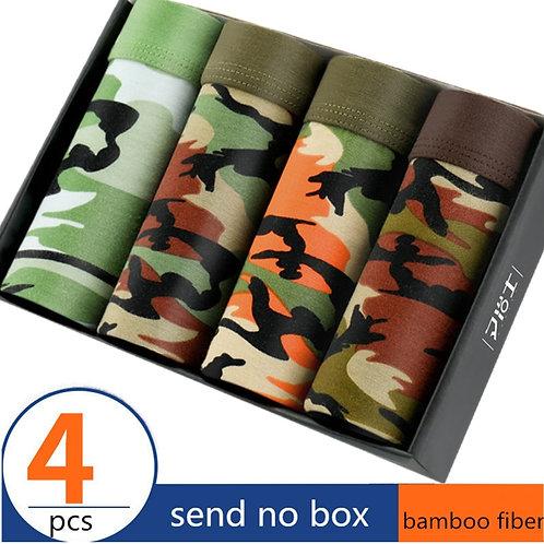 4 Pieces Camo Men's Underwear