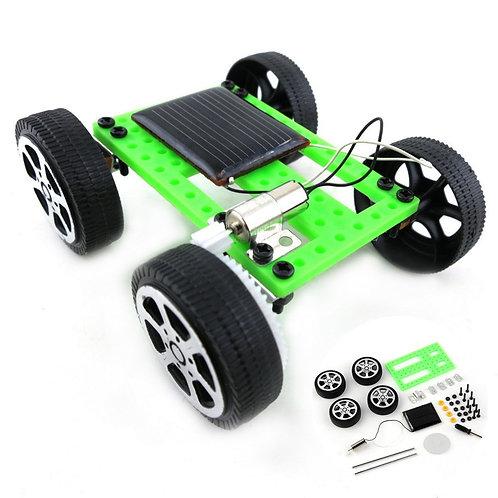 1 Set Mini Solar Powered Toy Diy Car Kit Children