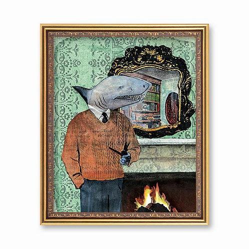 Dapper Shark Art Print