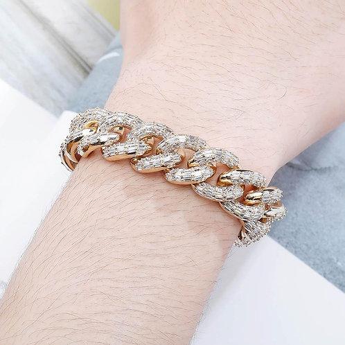 16mm Miami Cuban Chain Bracelet 4 COLORS High Quality Copper Material