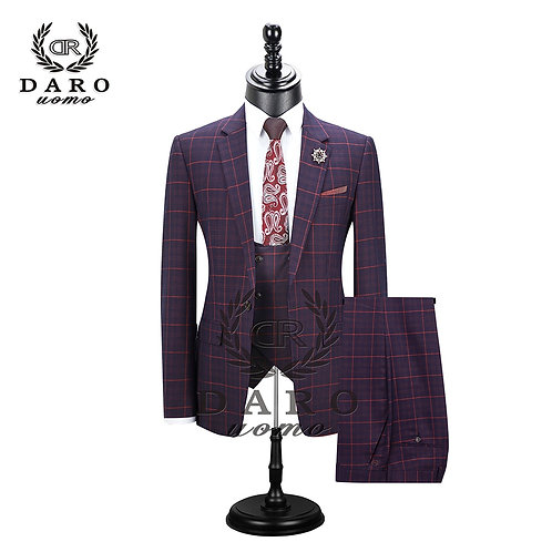 DARO Mens Suit Slim Fit Casual One Button Fashion