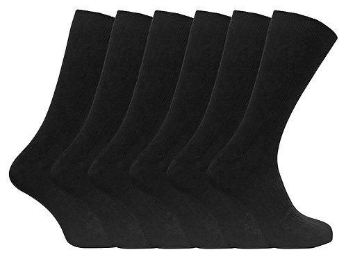 6 Pack Mens 100% Cotton Socks