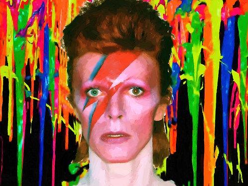 3D Metal Wall Art 11 x 14 David Bowie
