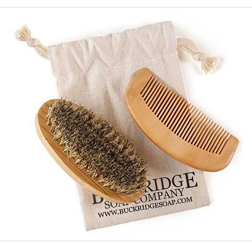 Beard Brush and Comb Set