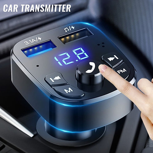 Bluetooth Version 5.0 FM Transmitter Car Player Kit