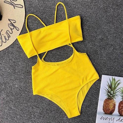 6 Colors High Waist Bikini Set Solid Swimwear Women Sexy Two piece