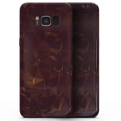 Brown and Copper Abstract Geometric Shapes - Samsung Galaxy S8