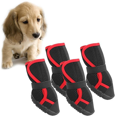 4 Pcs/Lot Pet Shoes For Large Dogs Summer Anti Slip Tied Shoe Paw
