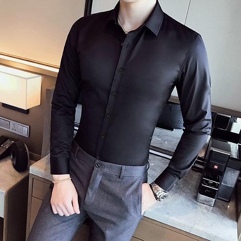 Business Shirts 2020 Mens Long Sleeve Work Shirt