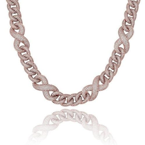 14mm Miami Generous Buckle Copper Material Cuban Necklace  Iced Out