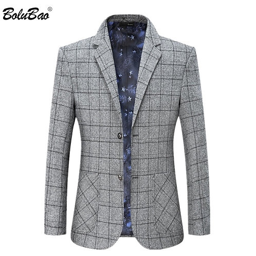 BOLUBAO Brand Plaid blazer