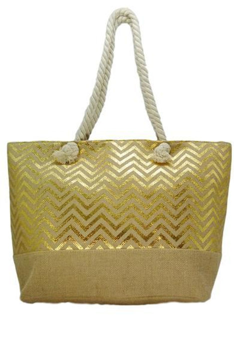 Beach Tote Bag - Chevron