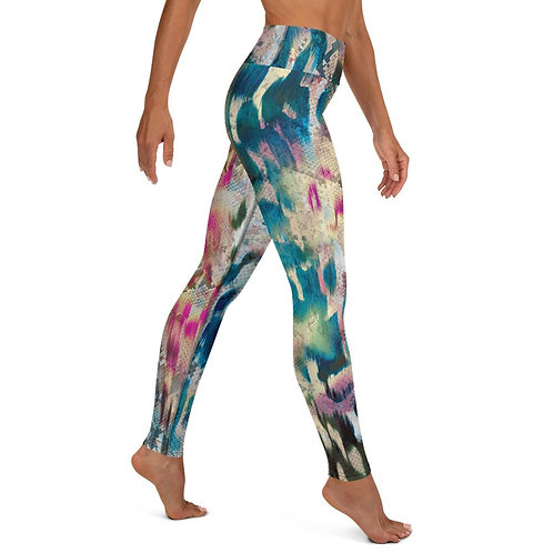 Abstract Colorful Animal Print High Waist Leggings