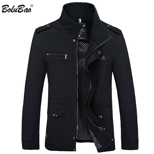 Autumn Brand Casual Silm Fit Overcoat Jacket Male