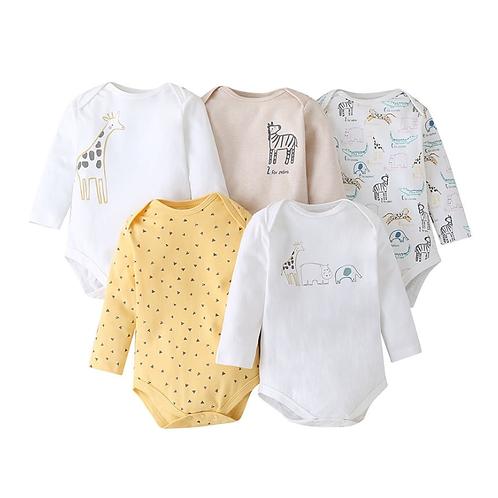 5 Pieces/Lot Infant Baby Cotton Baby jumpsuit