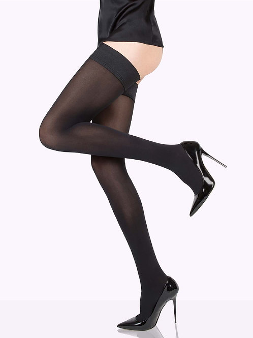 CLAUDIA Matte Stockings, Thigh Highs