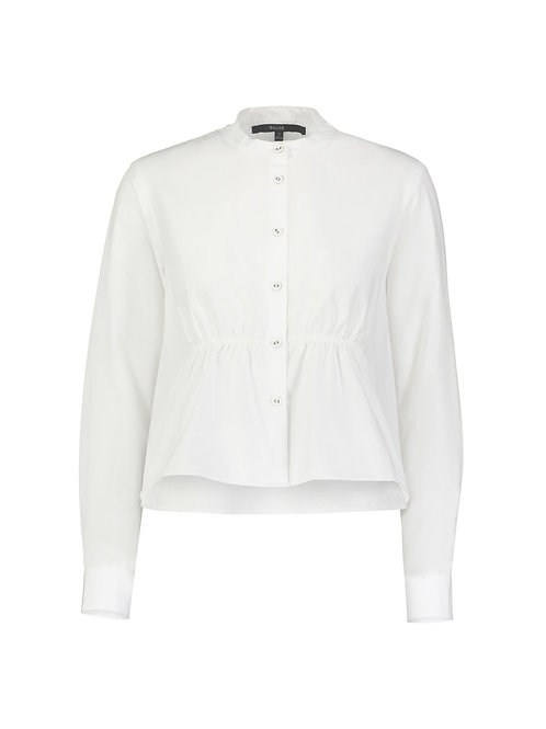 Albany Cropped Smocked Shirt