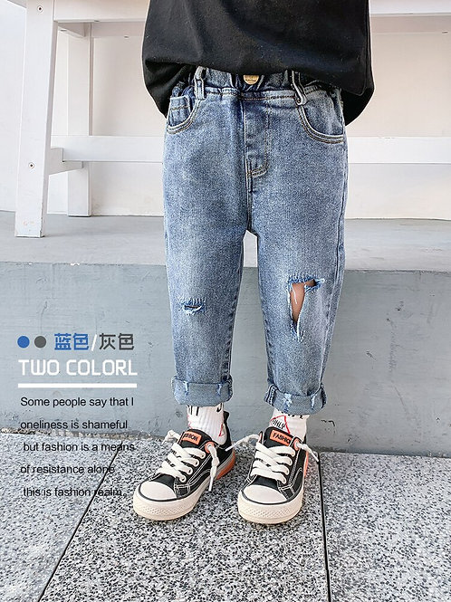 Boys Ripped Jeans New Children's Clothing