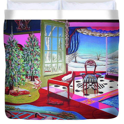 Christmas Painting - Duvet Cover