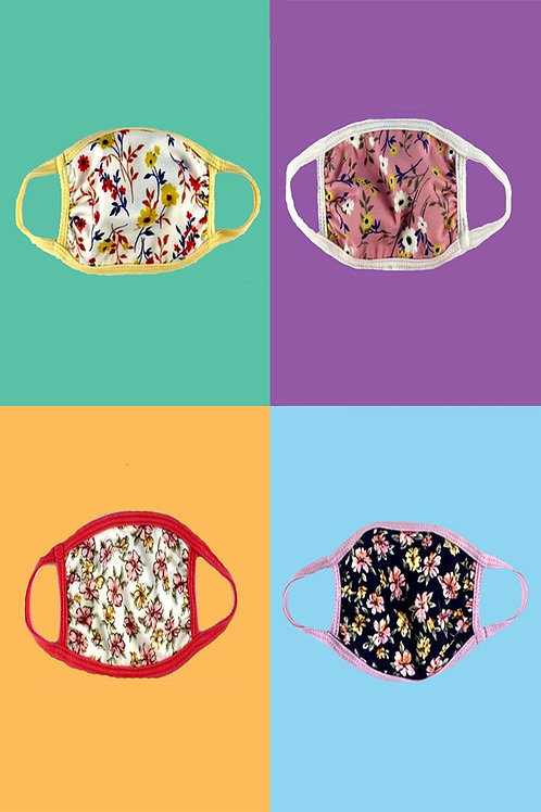Baby Toddler Face mask with Floral ditsy ear loop cloth fabric face