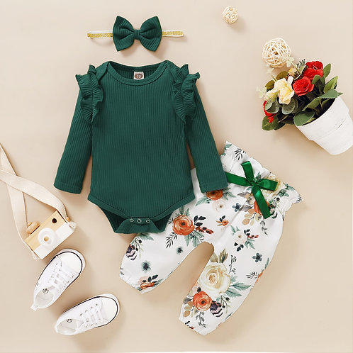 3Pcs Baby Girl Clothes Set Newborn