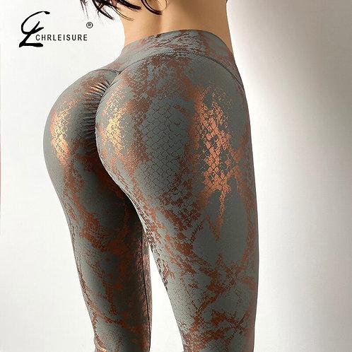 Bubble Butt Sexy Leggins Mujer Snakeskin Pattern women