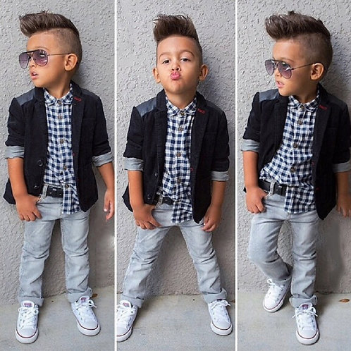 2020 Fall Kids Boy Clothes Set 3 Pieces