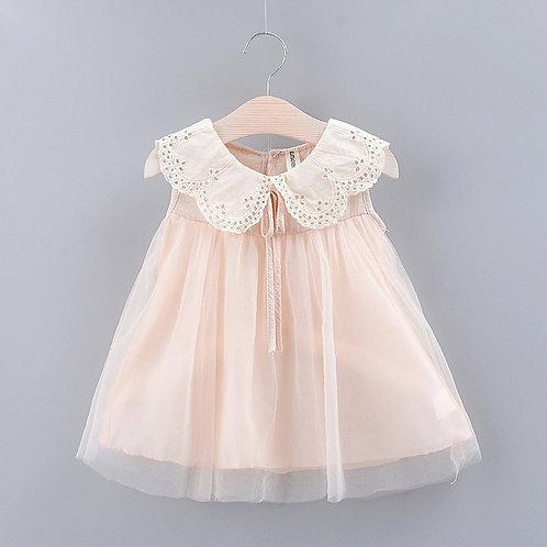 Cute Lace Collar Tulle Dress
